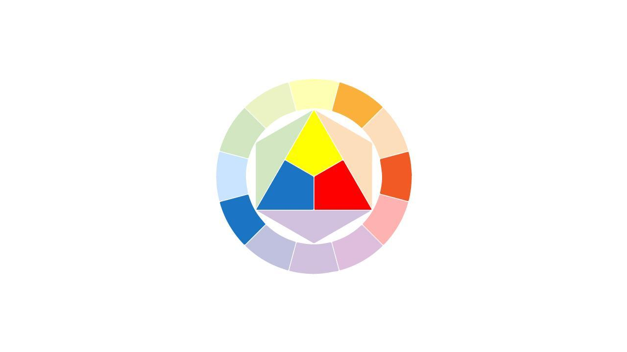 الألوان المكملة split complements