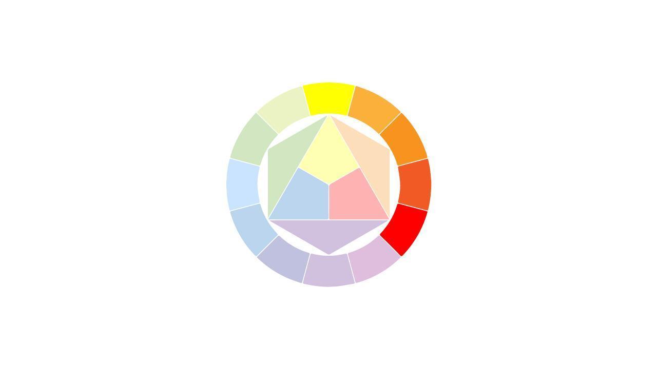 الألوان المتجاورة analogous colors