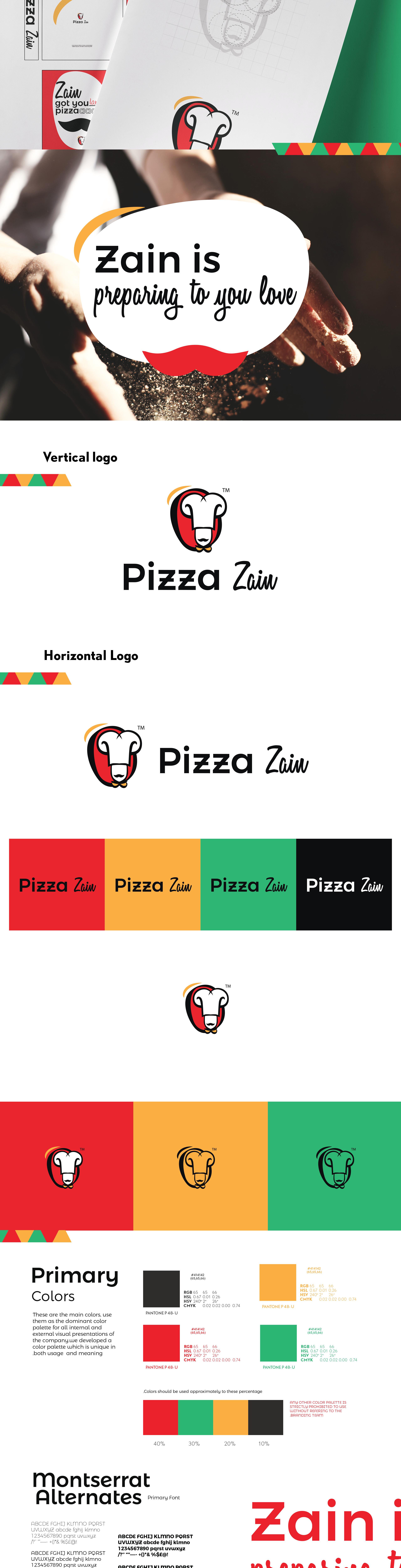 تصميم شعار بيتزا زين