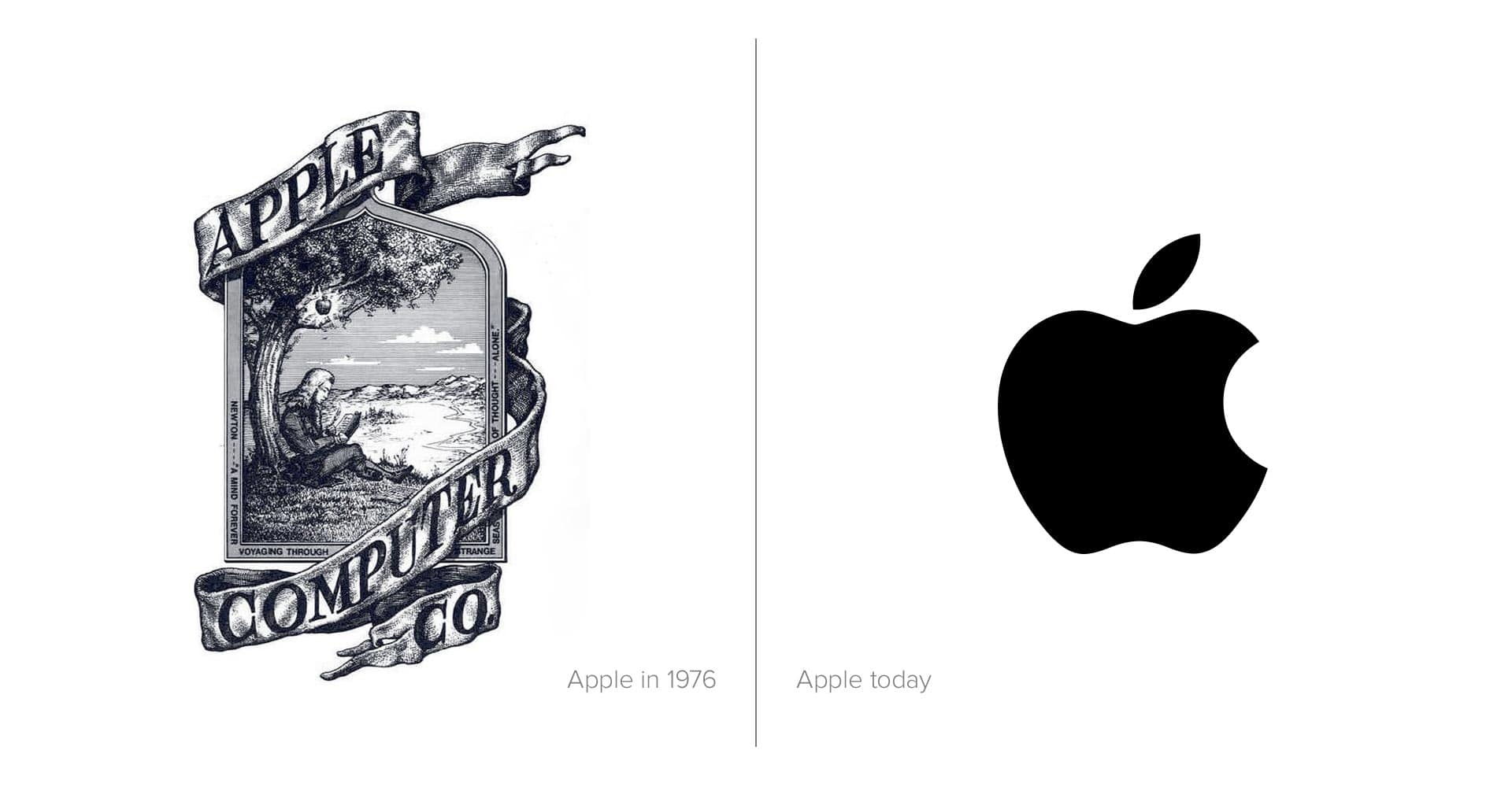 تصميم العلامة التجارية لأبل منذ عام 1976 وحتى الآن