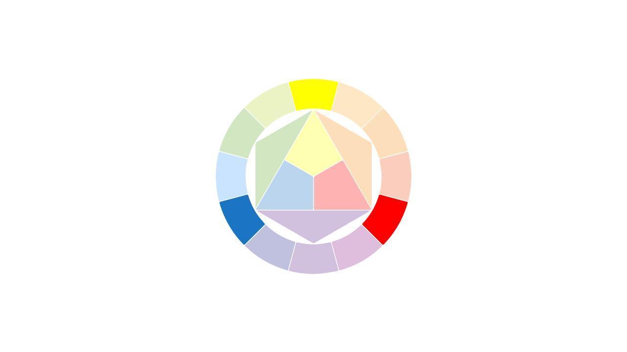 الألوان الثلاثية triad colors