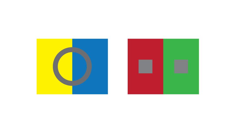 تباين الألوان في التصميم