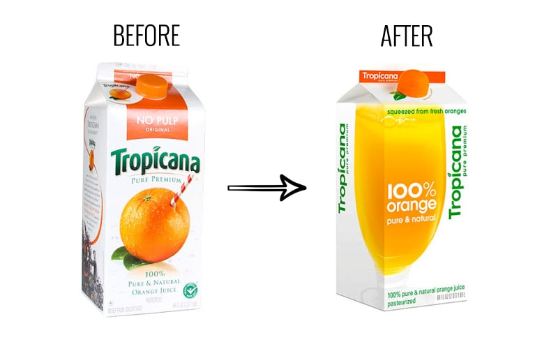 إعادة تصميم العلامة التجارية لتصميم  تروبيكانا