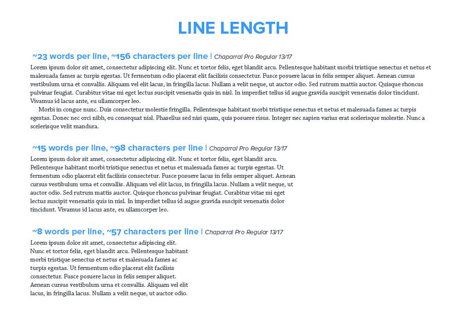 إتساع الجمع line length