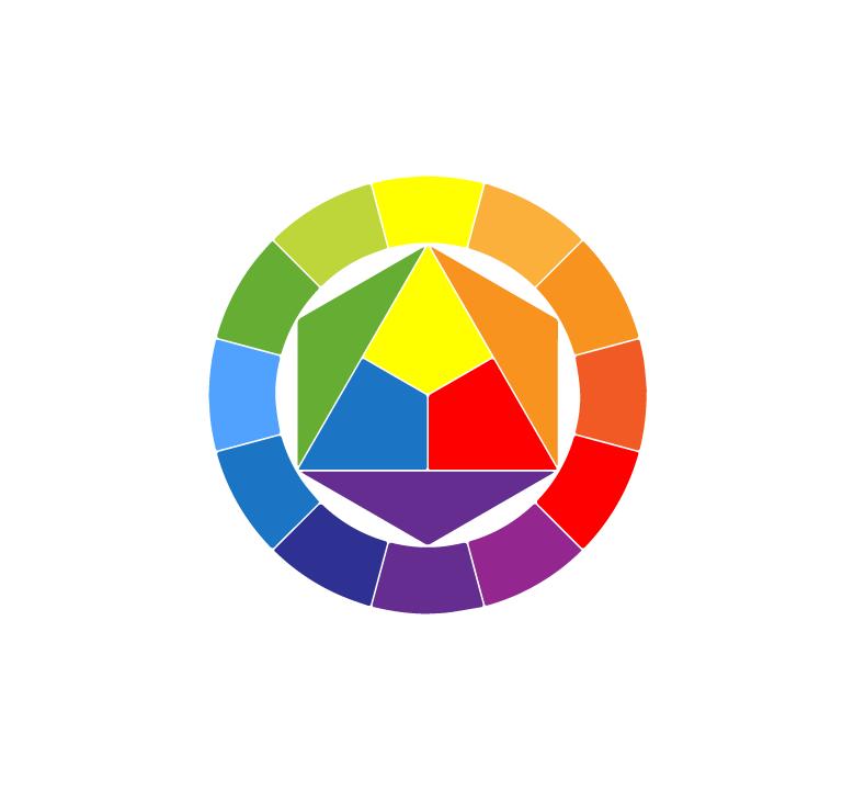 عجلة الألوان (color wheel)